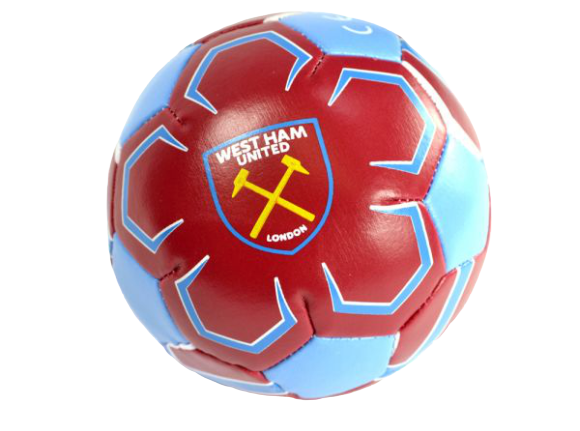 "WEST HAM  4"" MINI SOFT BALL"