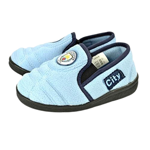 MAN CITY GOAL HEEL SLIPPER - [everything-football].