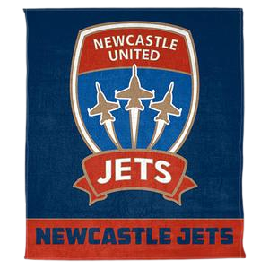 NEWCASTLE JETS POLAR FLEECE RUG - [everything-football].