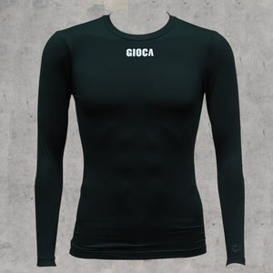 GIOCA BLACK COMPRESSION TOP LONG SLEEVE