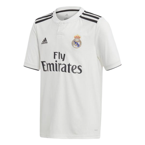 REAL MADRID HOME JERSEY YOUTH 2018/19 - [everything-football].