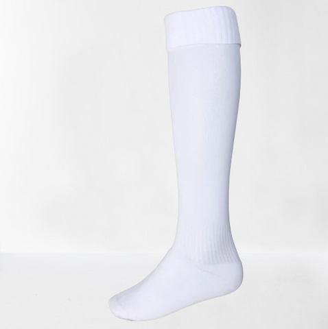 WHITE FOOTBALL SPORTS SOCKS