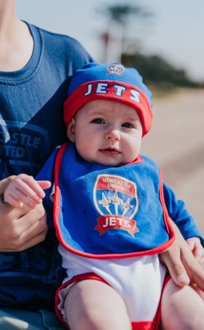 NEWCASTLE JETS BODYSUIT 3PC GIFT PACK YOUTH INFANT