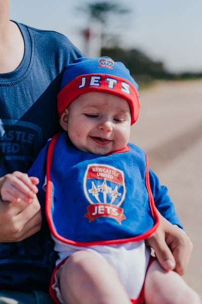 NEWCASTLE JETS BODYSUIT 3PC INFANT YOUTH