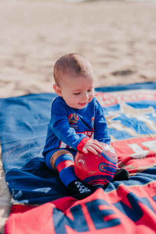 NEWCASTLE JETS FOOTYSUIT - YOUTH INFANT - [everything-football].