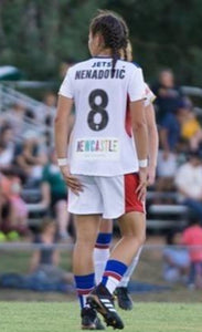 NEWCASTLE JETS VIVA SOPHIE NENADOVIC #8 AWAY  SIGNED JERSEY