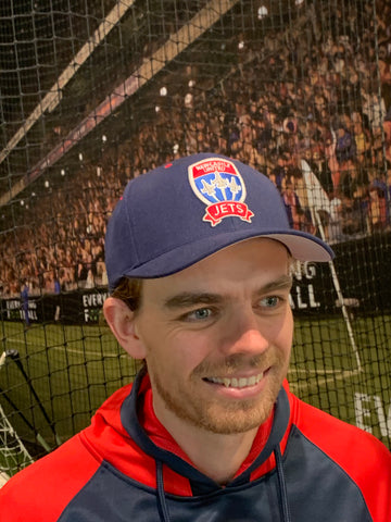 NEWCASTLE JETS COS CURVED PEAK SNAPBACK CAP