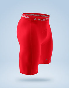 LINEBREAK MENS COMPRESSION STANDARD RED SHORTS