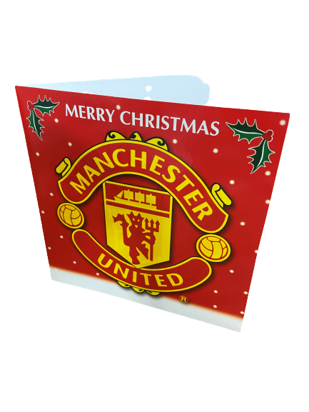MANCHESTER UNITED CHRISTMAS CARDS WITH ENVELOPES (12)