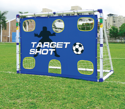 OUTDOOR-PLAY TARGET SHOT & SOCCER GOAL 6x4ft