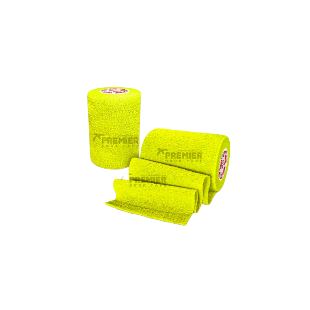PREMIER SOCK TAPE 7.5CM - FLURO YELLOW