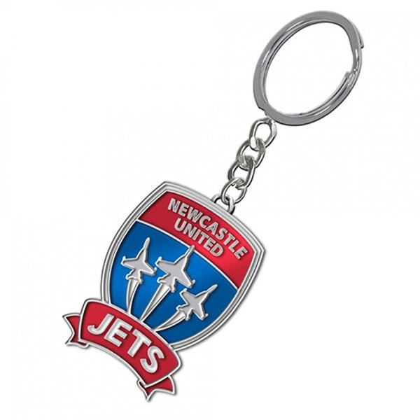 NEWCASTLE JETS METAL KEYRING - [everything-football].