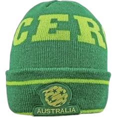 SOCCEROOS FLURO CUFF BEANIE - [everything-football].