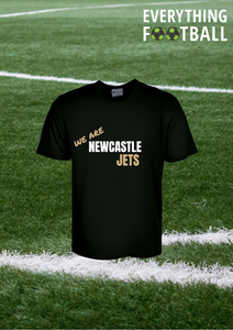 NEWCASTLE JETS PERSONALISED SUPPORTER SHIRT - YOUTH