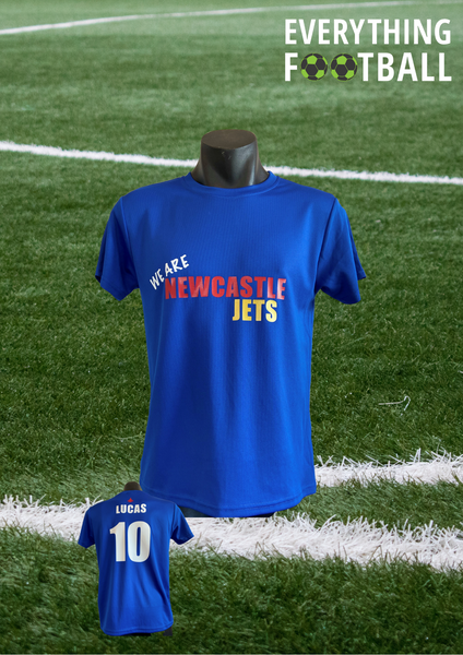 NEWCASTLE JETS PERSONALISED SUPPORTER SHIRT - ADULT