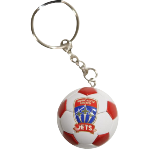 NEWCASTLE JETS BALL KEYRING - [everything-football].