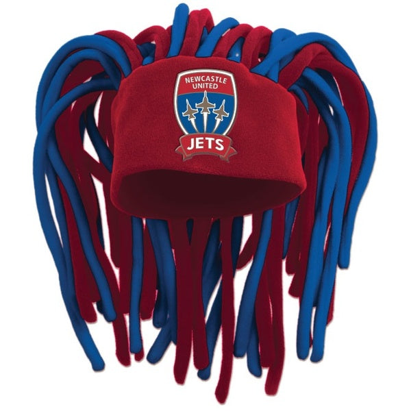 NEWCASTLE JETS DREADLOCK FUN HAT - [everything-football].