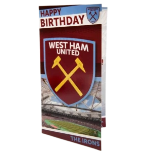 WEST HAM UNITED CREST BIRTHDAY CARD - [everything-football].