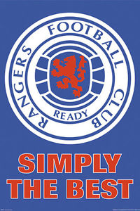 RANGERS SIMPLY THE BEST POSTER - [everything-football].