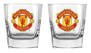 MANCHESTER UNITED SCOTCH GLASS SET - [everything-football].