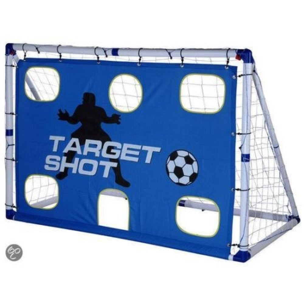 OUTDOOR-PLAY TARGET SHOT & SOCCER GOAL 6FT - [everything-football].