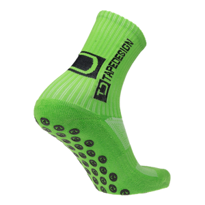 TAPEDESIGN ALL ROUND CLASSIC GRIP SOCK - FLURO GREEN