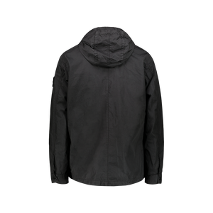 Giacca Garment Dyed Hooded Nero