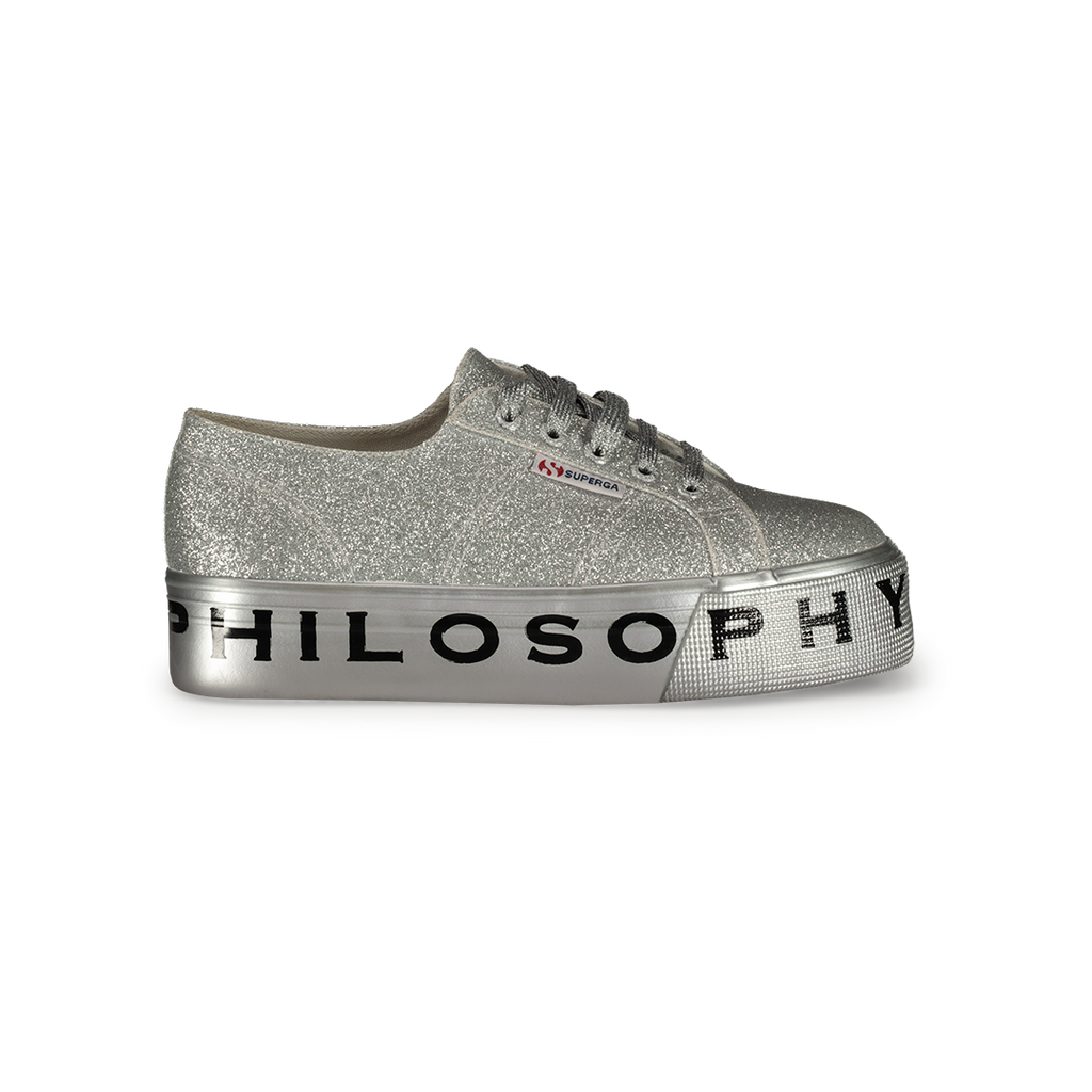 Sneakers Superga per Philosophy Argento