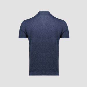 Polo Lino e Cotone Blue China