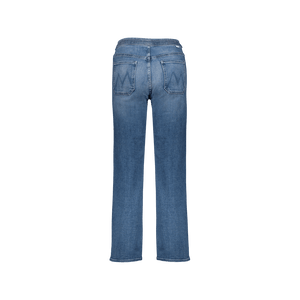 Jeans Vita Alta Tie Patch Denim