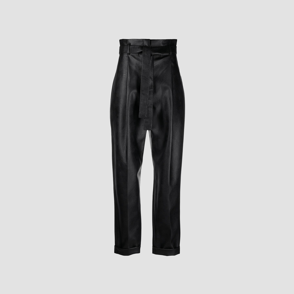 Pantalone in ecopelle Nero