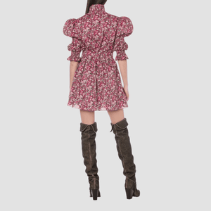 Mini Dress in Mussola Wildflower Rosa