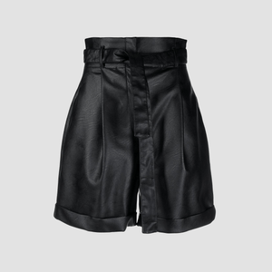 Shorts in ecopelle Nero