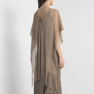Poncho in lurex Oro