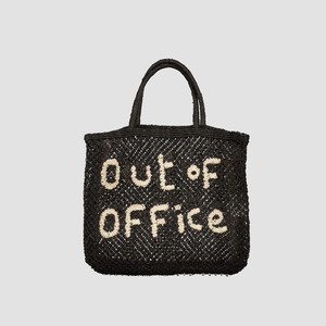 "Borsa in juta ""Out of office"" Nero"