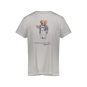 T-shirt Polo Bear in cotone bianca
