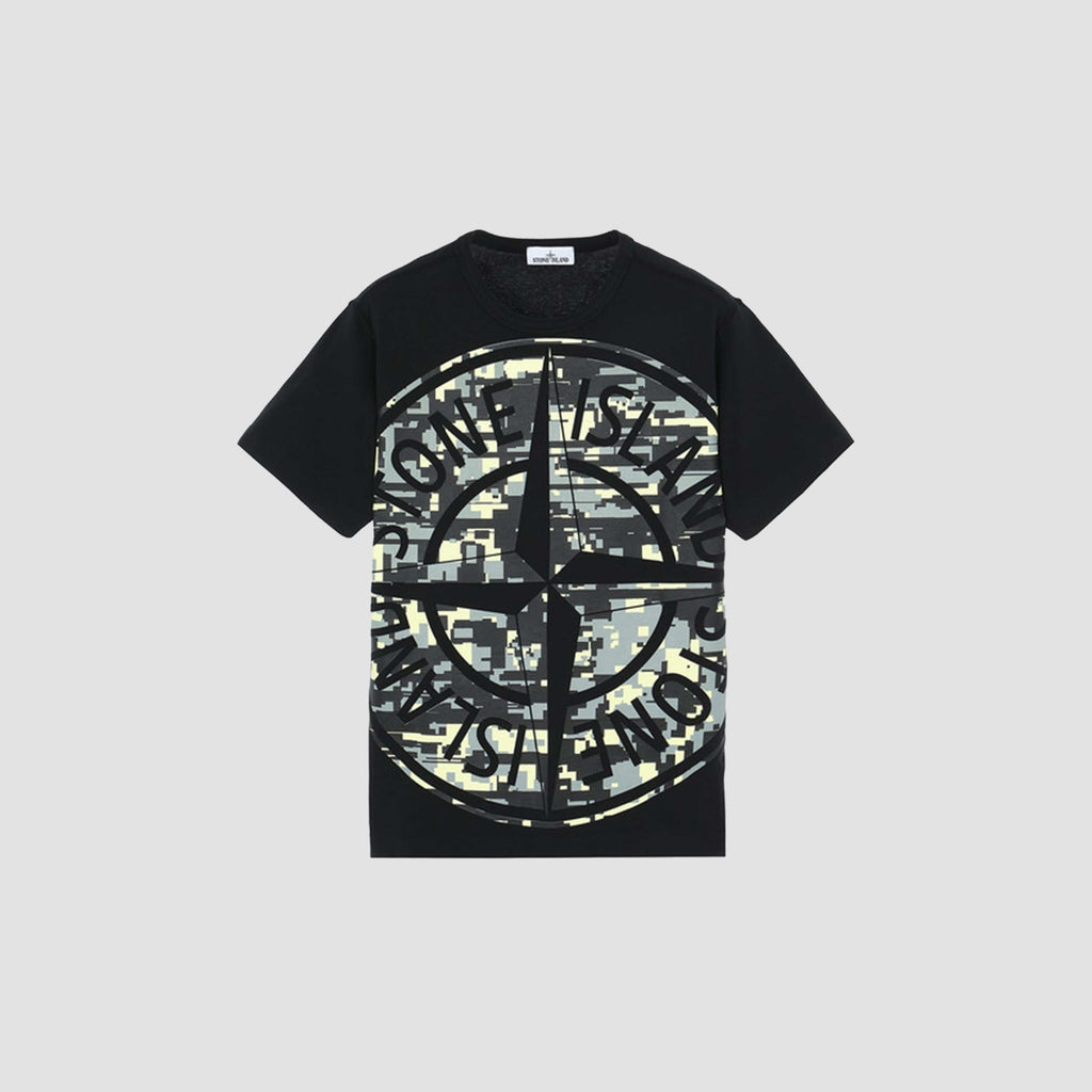 T-Shirt Mixed Yarn Jaquard Camo