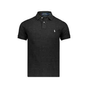 Polo Slim Fit Maniche corte Black Marl Heather