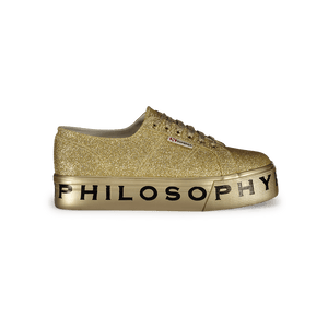 Sneakers Superga per Philosophy Oro