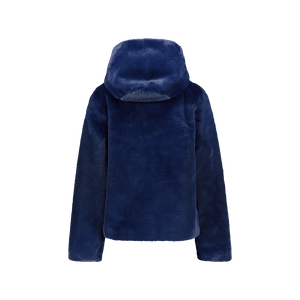 Giubbotto in Faux Fur Bluette