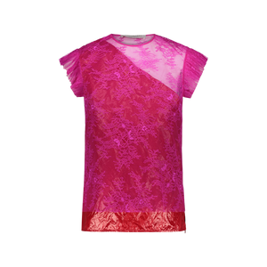 Blusa in pizzo Fuxia