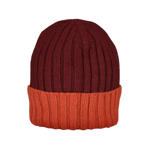 Cappello a Coste Bordeaux e Arancio