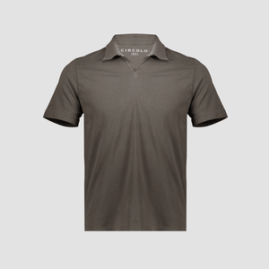 Polo in jersey Taupe