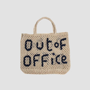 "Borsa in juta ""Out of office"" Naturale"