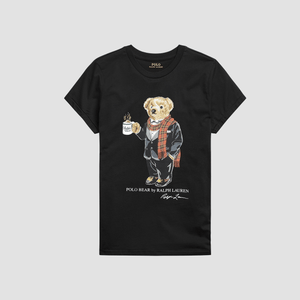 T-shirt Polo Bear Nero
