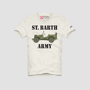 T-Shirt Army by Car Bianco