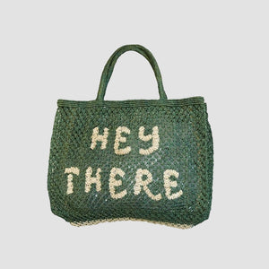 "Borsa in juta ""Hey there"" Verde Foresta"