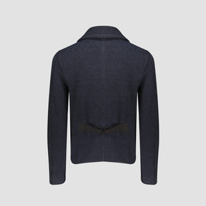 Cardigan Collo Sciallato Blue