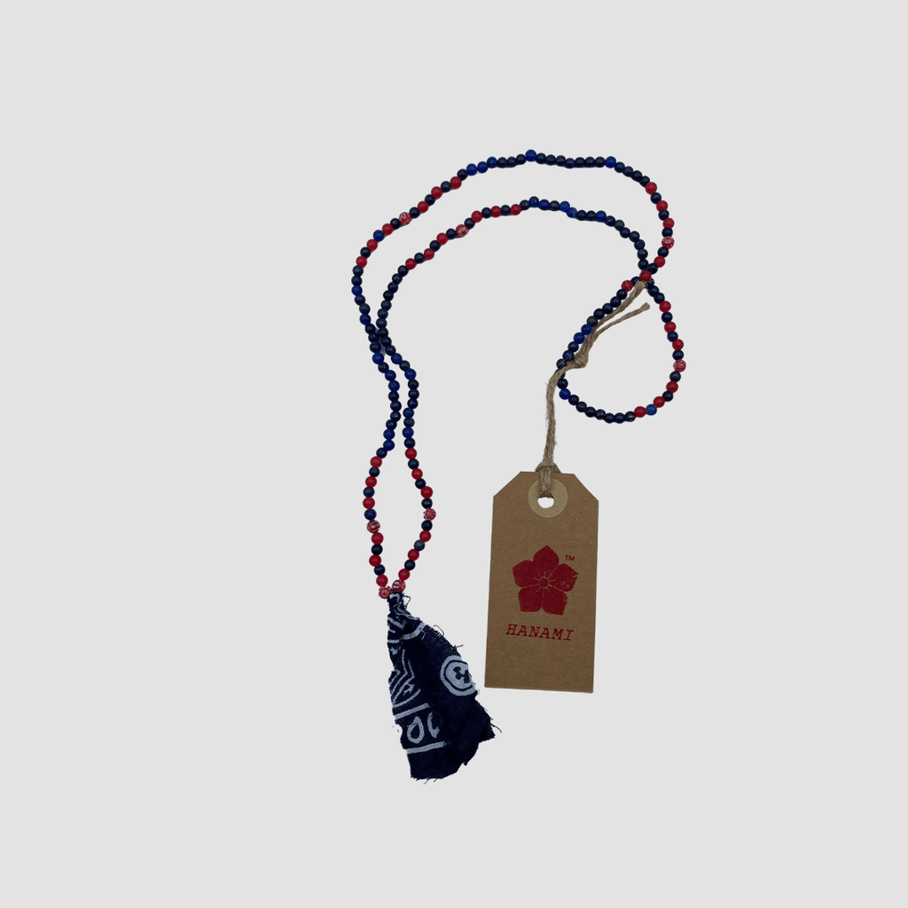 Collana con perline Blue e Rossa