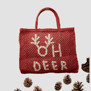 "Borsa in Juta ""Oh Deer"" Naturale"